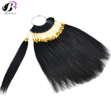 7cm Human Hair Color Rings/ Colour Charts 30pcs/lot Available Can Be Dyed For Salon Sample