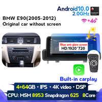 ¡Nuevo! Radio multimedia con GPS para coche, radio con reproductor, WIFI, navegador, Android 10,25, 8 núcleos, 10,0 pulgadas, idrive, para BMW Serie 3, E90/E91/E92/E93