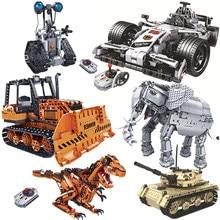 Yeni kamyon Robot F1 yarış araba tankı uzaktan kumanda RC yüksek teknoloji araba elektrikli kamyon yapı taşları tuğla oyuncaklar çocuk hediyeler için