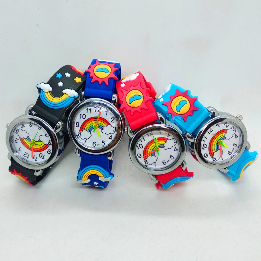 3D Rainbow Watch Silicone Kids Watches Cartoon Electronic Digital Children Watch Quartz Clock Boy Girl Baby Gift Montre Enfant