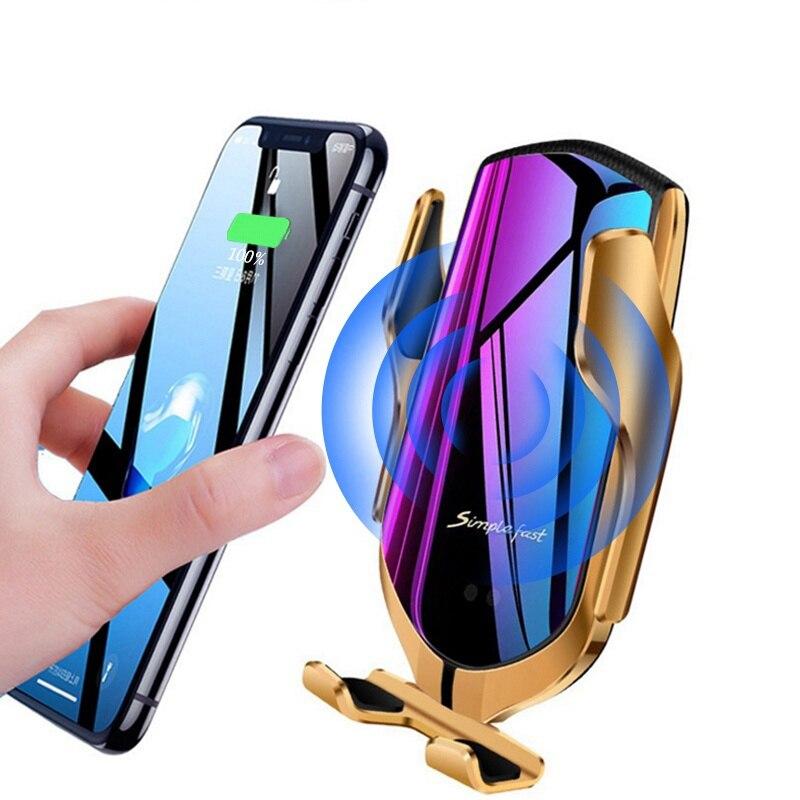 Chargeur sans fil de Voiture Cargador Inalambrico pour Samsung Galaxy S10Plus 2 in1 10W Chargeur rapide Ladowarka Chargeur Induction Voiture
