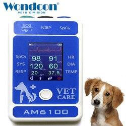 وندكون 2.4 بوصة لون TFT شاشة الكريستال السائل المحمولة البيطرية بلوتوث المريض مراقب SPO2 بلوتوث جهاز مراقبة الحيوانات الأليفة المريضة
