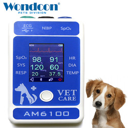 Wondcon 2.4 Inch Color TFT LCD Display Portable Veterinary Bluetooth Patient monitor SPO2 Bluetooth Veterinary  Patient Monitor