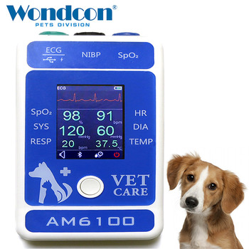 Wondcon 2.4 Inch Color TFT LCD Display Portable Veterinary Bluetooth Patient monitor SPO2  Monitor