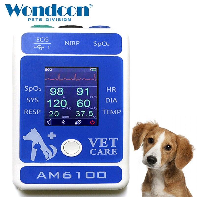 Wondcon 2.4 pouces couleur TFT LCD affichage Portable vétérinaire Bluetooth moniteur Patient SPO2 Bluetooth moniteur Patient vétérinaire