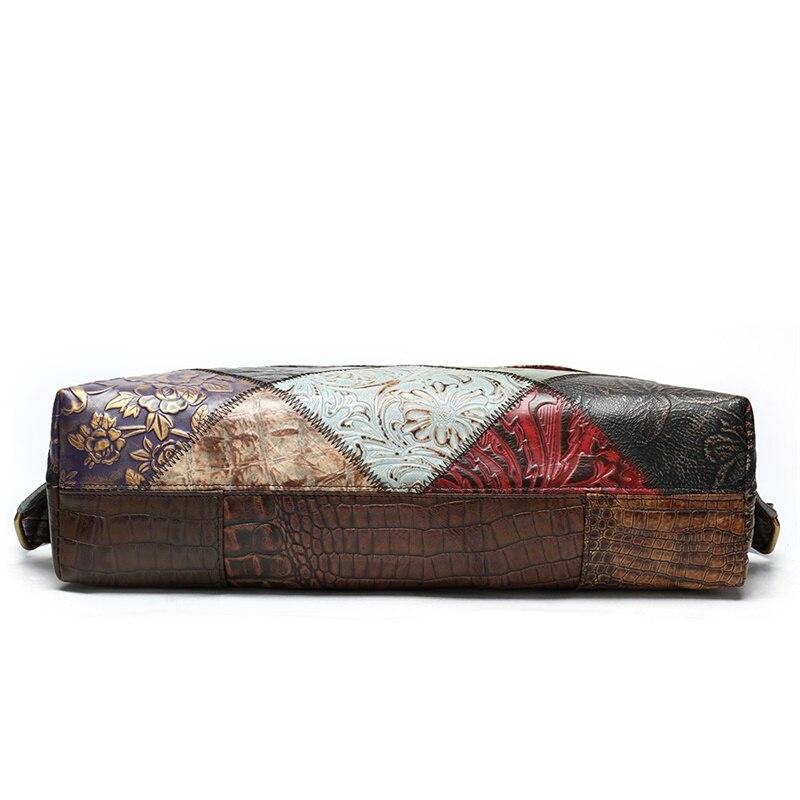 WESTAL Patchwork sacs à dos pour femmes sacs d'école en cuir véritable pour adolescent sac à dos pour ordinateur portable sac à bandoulière femme école sac à dos - 4