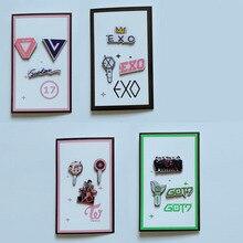 Needle-Set KPOP Fan-Accessories Acrylic-Pins TWICE SEVENTEEN GOT7 EXO 3pcs Brooches Jewelry