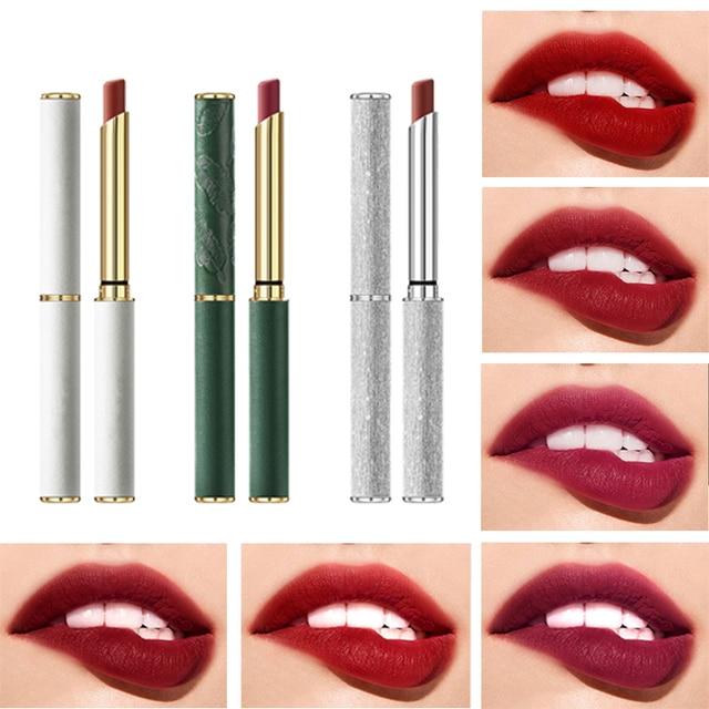 6 Colors Velvet Matte Lipsticks Pen Waterproof Long Lasting Sexy Red Lip Stick Gloss Moisturizing Makeup Lip Tint Pen Cosmetic 1