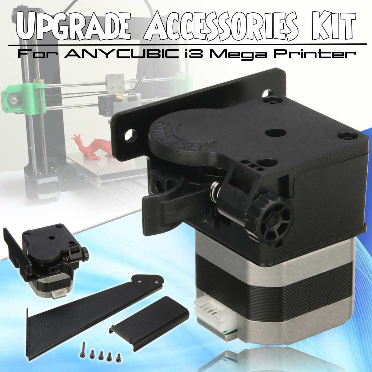 NEW 3D Printer Upgrade Accessories Kit With Extruder Material Holder Full Metal Mechanical Kit For ANYCUBIC I3 Mega image