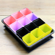 Household Rectangular Breathable Seedling Tray Storage Container Sprouts Plastic Flower Pot  Seeding