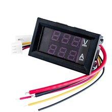 цена на DC 0-100V Digital DC Amp Volt Ammeter Voltmeter Ampere 2 in 1 2-color LED Voltage Current Measure Board