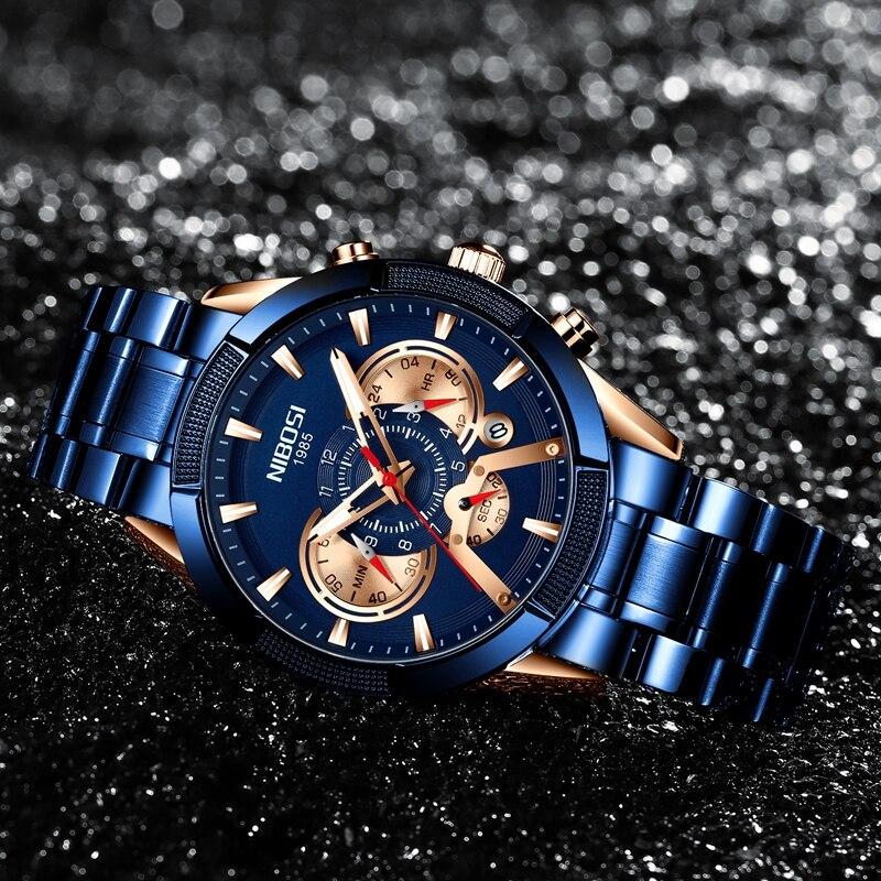 NIBOSI 2020 New Arrival Men Watch Top Luxury Brand Sport Watches Mens Chronograph Quartz Wristwatch Date Male Relogio Masculino 3