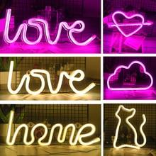 Креативный светодиодный неоновый светильник, знак «сердце любви», украшение для свадебной вечеринки, неоновая лампа на День святого Валентина, юбилей, домашний декор, ночная лампа, подарок
