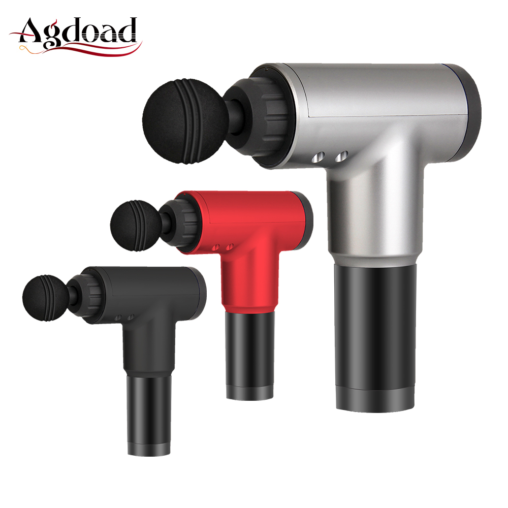 Body Massager Handheld Muscle Massage Gun Deep Muscle Training Exercise Massage Relaxation US Plug with 4 Heads