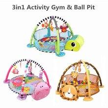 3-In-1 Mat Rug Activity-Mat Crawling-Blanket Tapete Turtle Play Gym Infantil Baby Kids