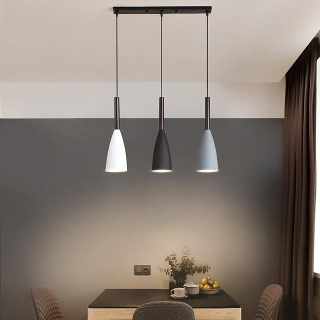 Moderno 3 pingente de iluminação nordic minimalista pingente luzes sobre mesa jantar cozinha ilha pendurado lâmpadas luzes da sala jantar e27
