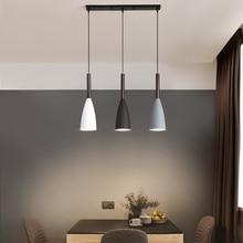 Nowoczesna 3 lampa wisząca skandynawska minimalistyczna lampa wisząca nad stołem kuchnia wyspa lampy wiszące jadalnia oświetlenie do pokoju E27