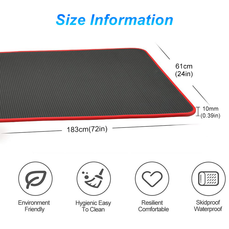 10 mm Extra Thick Non slip Yoga Mat Natural Rubber NBR Fitness Sports Gym Pilates Pads