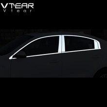 Vtear para kia rio 4 acessórios da janela do carro guarnição capa cromo placa estilo do carro exterior estilo decoração peças 2017 2019