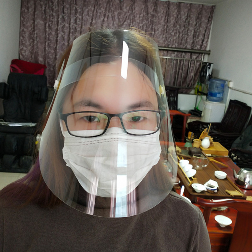 1pc Anti-Spitting Splash Mask Dust Face Protective Mask Safety Painting Face Protection Multi-Function Oil-Splash Proof Mask
