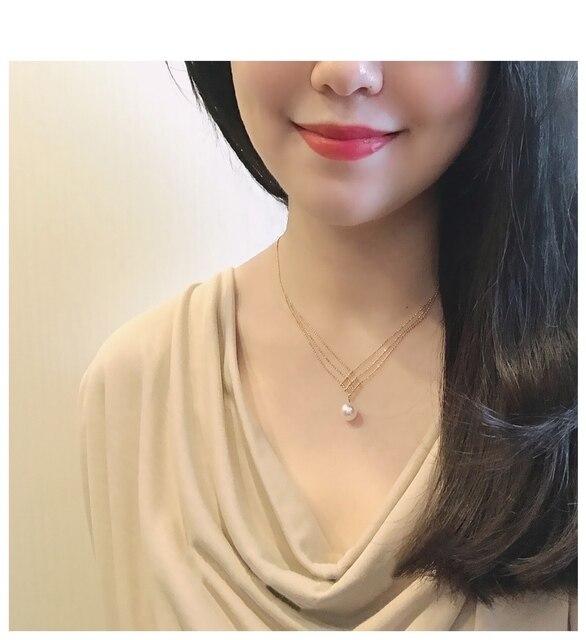 18 k sólido amarelo ouro jóias (au750) feminino colar de renda gargantilha corrente natural akoya mar pérola moda senhora 6