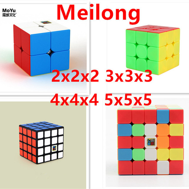 Moyu Meilong 2x2 3x3 4x4 5x5 Magic Speed Cube 2x2x2 3x3x3 4x4x4 5x5x5 magic puzzle game cubo For Children adults kids toys 1