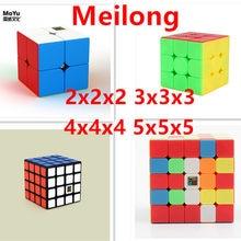 Moyu Meilong 2x2 3x3 4x4 5x5 Magic Speed Cube 2x2x2 3x3x3 4x4x4 5x5x5 magia jogo de puzzle cubo para crianças adultos crianças brinquedos