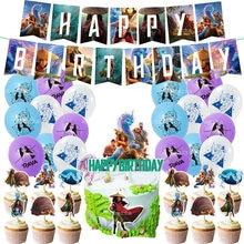 Raya e o último dragão látex balão tema banner festa de aniversário balões crianças festa de aniversário decoração do chuveiro do bebê balões