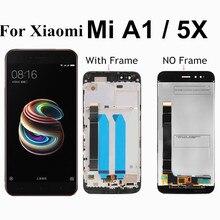 цена на For Xiaomi Mi A1 LCD Display+Touch Screen Mi5X LCD Digitizer Premium Replacement for Xiaomi Mi 5X MiA1 Mi A1 4GB 32GB 64GB 5.5