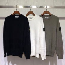 2021 Spring NEW ISLAND Male Loose STONE O-neck Sweater Men Casual Logo Long Sleeve Pullovers