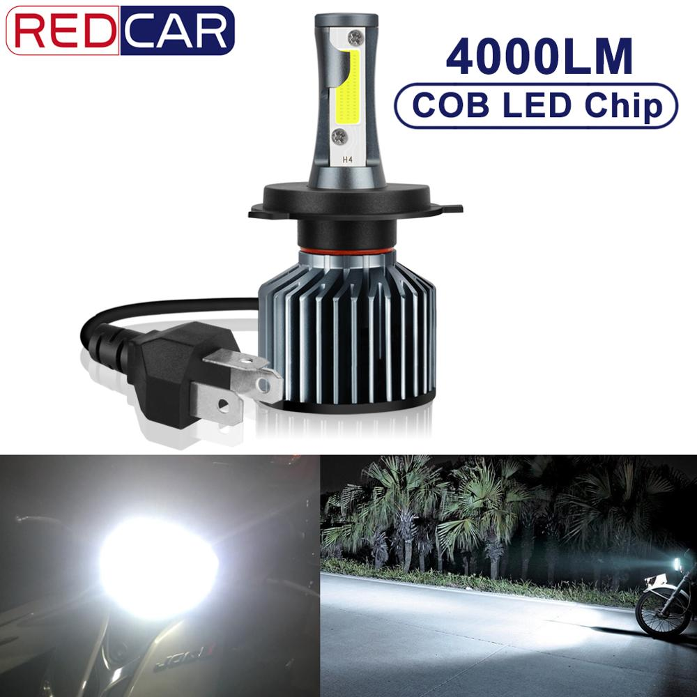 H4 Motorcycle Headlight Led Bulb 35W 4000LM Hi Lo Moto Bike Headlamp Lamp Bulb 6000K White Driving Lights Motorbike 12V