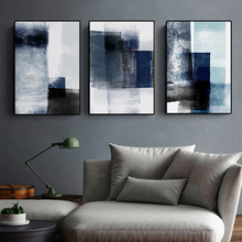Canvas Painting Nordic Abstract Prints Watercolor Blue Art Wall Pictures for Living Room Cuadros Home Decor Posters and