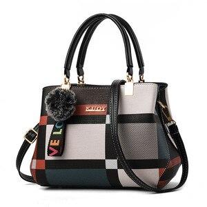 Image 1 - 2020 المرأة حقيبة بولي Leather حقيبة يد جلدية للإناث الإناث الفاخرة حقيبة ساعي الكتف سيدة مصمم كيس حقيبة كروسبودي الرئيسية