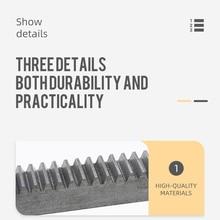 Spur rack Straight teeth rack 1 module 1M 12*12*1000mm gear rack Square rack 45