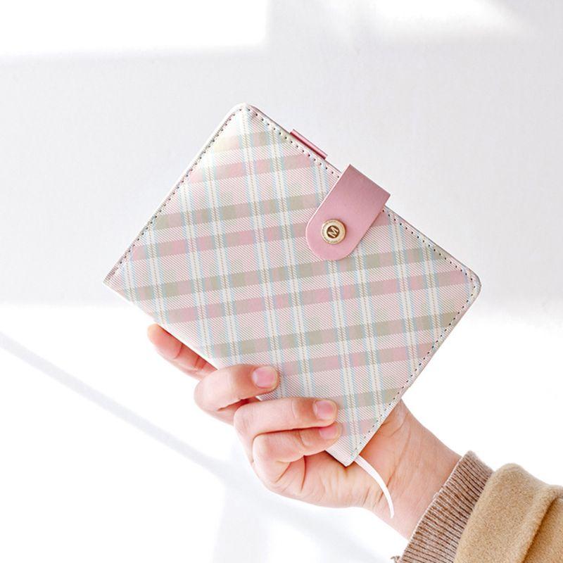 Купить с кэшбэком Creative Stationery Plaid Mini Portable Notebook Leather Cover Student Notebook Kids Gift School Supplies