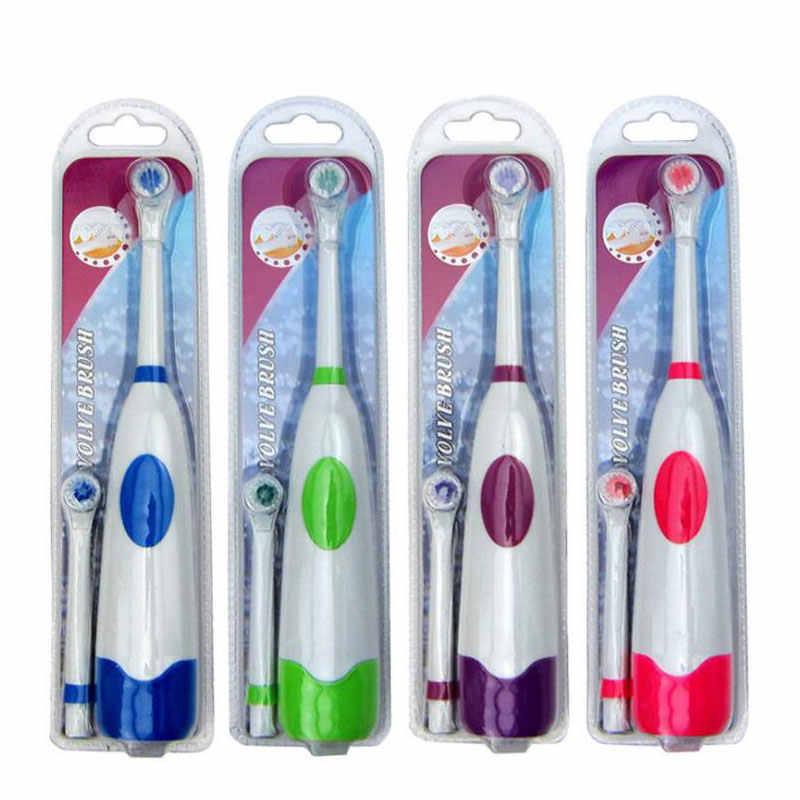 1 セット電気歯ブラシ 2 ブラシヘッドと子供のためのケアため回転活力漫画口腔健康ソフト歯ブラシ子供