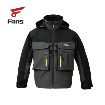 8 Fans Fishing Wading Jacket Breathable Waterproof Angler Jacket for Men Women цена 2017