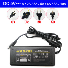 цена на DC 5V Led Power Adapter AC100-240V led Light power Supply 1A 2A 3A 5A 6A 8A 10A LED Strip Transformer with plug