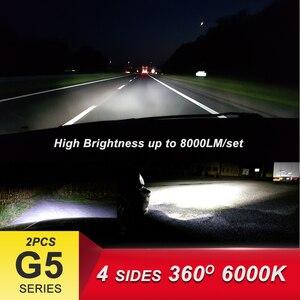 Image 2 - CNSUNNYLIGHT 8000Lm G5 4 Sides 360 Degrees LED H4 H7 H11 9006/HB4 9005/HB3 COB Car Headlight Bulbs 60W  DC 12V Fog Light 6000K