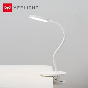 Image 1 - Original Xiaomi Yeelight LED USB Charge lampe de bureau Clip On Stand veilleuse Rechargeable portable 5 W gradation 3 Mode lampe de lecture