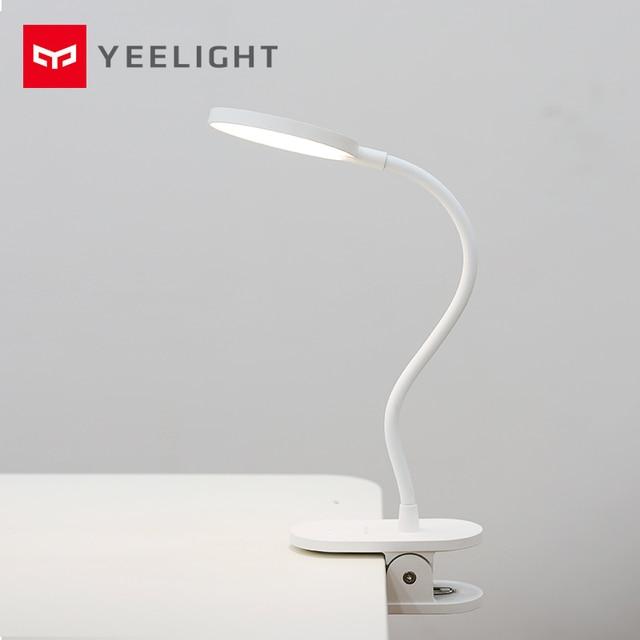 Original Xiaomi Yeelight LED USB Charge lampe de bureau Clip On Stand veilleuse Rechargeable portable 5 W gradation 3 Mode lampe de lecture