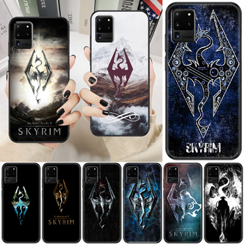 Game Skyrim Phone case For Samsung Galaxy Note 4 8 9 10 20 S8 S9 S10 S10E S20 Plus UITRA Ultra black trend coque tpu hoesjes art image