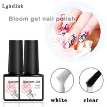 8ML Blossom unha polonês gel Nail Art Blooming Flower Pattern Nail Polish UV Gel Verniz de Unhas de Gel top coat Transparente branco