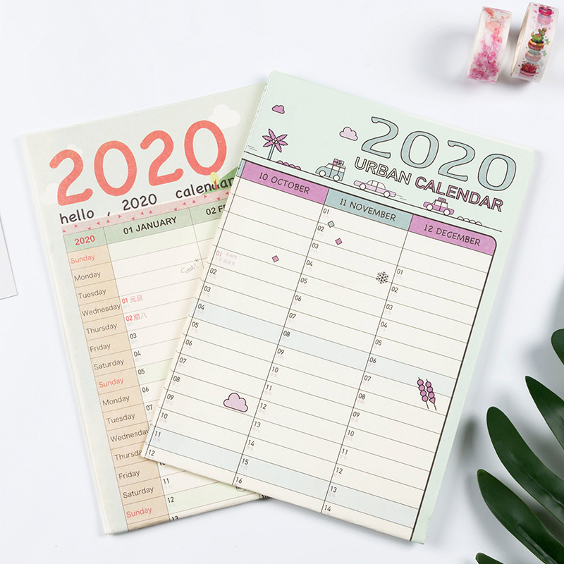 2020 Calendar Wall Calendar 365 Days Countdown Diary Calendar School Office Supply