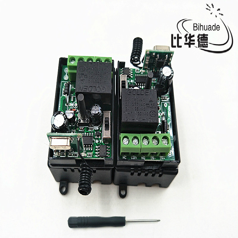 433Mhz 1pcs 1channel wireless remote control relay switch module learning code DC 12V RF superheterodyne receiver 1CH controller image