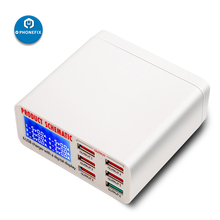 PHONEFIX многопортовый ЖК-дисплей usb зарядная станция EU US UK зарядное устройство для мобильного телефона для iPhone 6 7 8 X iPad