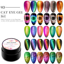 Bertemu Di 9D Chameleon Magnetic Cat Eye Gel Cat Kuku Mengkilap Laser Magnet Nail Art Lacquer Rendam Off UV LED gel Varnish(China)