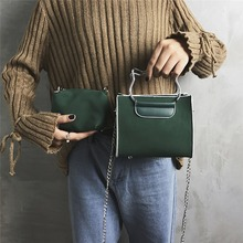 2019 New Shoulder Bag Womens Harajuku Style Single Diagonal Package Ring Portable Small Square
