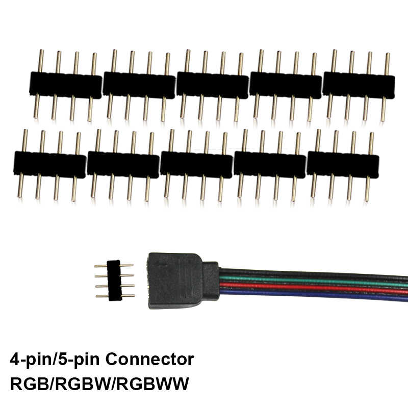 20 Pcs 4-Pin 5-Pin Connector Rgb Rgbw Rgbww 2835 3528 5050 Gebruikt Voor Led Light Strip accessoires