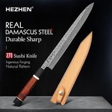 HEZHEN Retro Series 270mm Sashimi Knife Damascus Steel Sushi Japanese Filletting Kitchen Tool Sharp Salmon Cook Knives